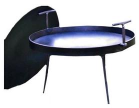 Сковорода походная из диска бороны с крышкой Dacha, 40 см