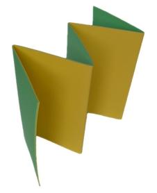Коврик туристический Izolon Tourist 8 складной, зелено-желтый