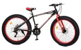 """Велосипед горный фэтбайк Profi Power - 26"""", рама - 17"""", черно-красный (1.0 S26.1)"""