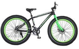 """Велосипед горный фэтбайк Profi Power - 26"""", рама - 17"""", зелено-черный (1.0 S26.2)"""