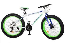 """Велосипед горный фэтбайк Profi Power - 26"""", рама - 17"""", зелено-белый (1.0 S26.3)"""