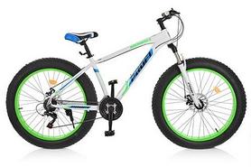"""Велосипед горный фэтбайк Profi Highpover - 26"""", рама - 17"""", бело-зеленый (2.0 A26.1)"""