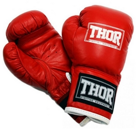 Перчатки боксерские детские Thor Junior Leather Red (513 PU)