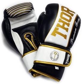 Перчатки боксерские Thunder PU черные (529/13)