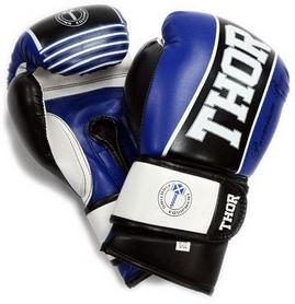 Перчатки боксерские Thunder PU синие (529/11)