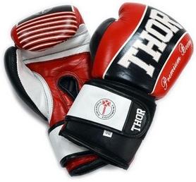 Перчатки боксерские Thunder PU красные (529/13)