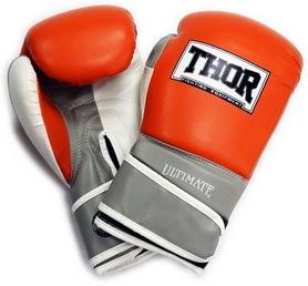 Перчатки боксерские Thor Ultimate PU оранжевые (551/04)