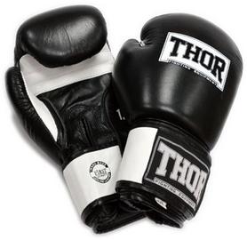 Перчатки боксерские Thor Sparring PU Black/White (558)