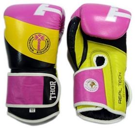 Перчатки боксерские Thor King Power Leather Pink (8003/01)