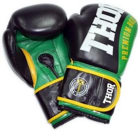 Перчатки боксерские Thor Shark Leather зеленые (8019/01)