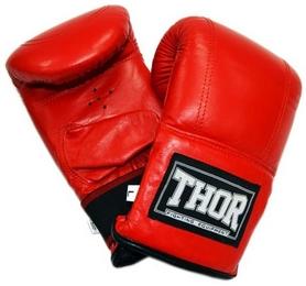Перчатки снарядные Thor 606 Leather красные
