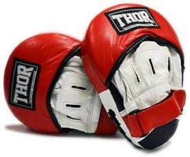 Лапы боксерские Thor 820 Leather красные