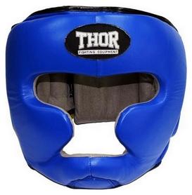 Шлем боксерский Thor 705 Leather blue