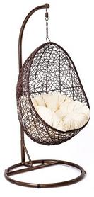 Кресло-кокон ротанг Di Volio Bacoli brown