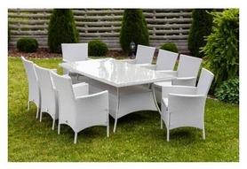Набор мебели садовой Hop-Sport Ротанг Trapani 9, белый