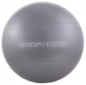 Мяч для фитнеса (фитбол) Profi - серый, 55 см (M0275-1)