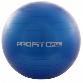 Мяч для фитнеса (фитбол) Profi - голубой, 55 см (M0275-1)