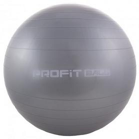 Мяч для фитнеса (фитбол) Profi - серый, 65 см (M0276-1)