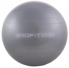 Мяч для фитнеса (фитбол) Profi - серый, 75 см (M0277-1)