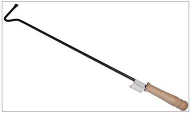 Кочерга для котла с деревянной ручкой, 60 см