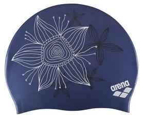 Шапочка для плавания детская Arena Sirene Hand Draw, синяя (91440-24)