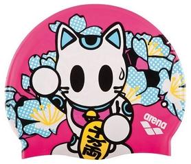 Шапочка для плавания детская Arena Kun Cap, розовая (91552-38)