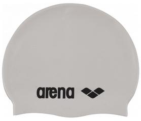 Шапочка для плавания Arena Classic Silicone, белая (91662-15)