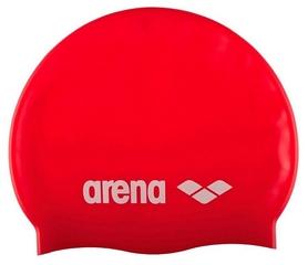 Шапочка для плавания Arena Classic Silicone, красная (91662-44)