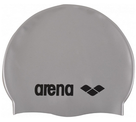Шапочка для плавания Arena Classic Silicone, серая (91662-51)