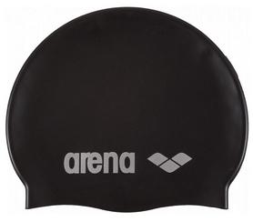 Шапочка для плавания Arena Classic Silicone, черная (91662-55)