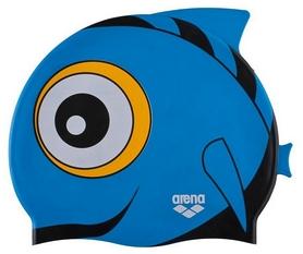 Шапочка для плавания детская Arena Awt Fish Cap, синяя (91915-10)