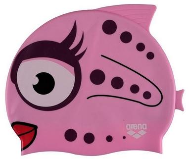 Шапочка для плавания детская Arena Awt Fish Cap, розовая (91915-91)
