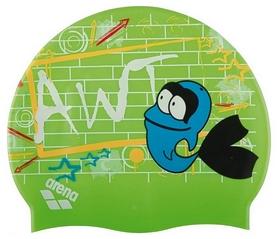 Шапочка для плавания детская Arena Awt Multi, зеленая (91925-22)