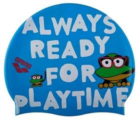 Шапочка для плавания детская Arena Awt Multi, синяя (91925-23)