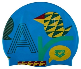 Шапочка для плавания Arena Print Jr Hanselgretel Turquoise, голубая (94171-39)
