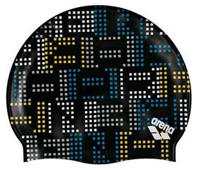 Шапочка для плавания Arena Print Jr Neon, зеленая (94171-501)
