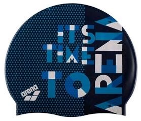Шапочка для плавания Arena Print Jr Dashboard, синяя (94171-708)