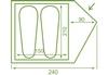 Палатка двухместная Mousson Fly 2, зеленая (4823059846995) - фото 3