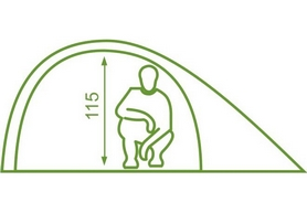 Фото 3 к товару Палатка двухместная Mousson Fly 2, лайм (4823059847008)