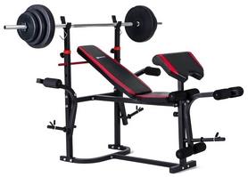 Скамья для жима Hop-Sport HS-1020 с партой + набор Premium, 78 кг