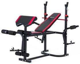 Скамья для жима Hop-Sport HS-1020 с партой и тягой + набор Premium, 124 кг