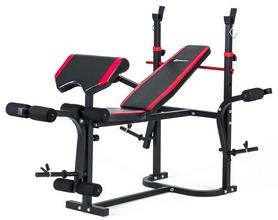 Скамья для жима Hop-Sport HS-1020 с партой и тягой + набор Premium, 33 кг