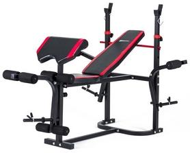 Скамья для жима Hop-Sport HS-1020 с партой и тягой + набор Premium, 48 кг
