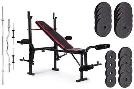 Скамья для жима Hop-Sport HS-1070 + набор Premium, 91 кг