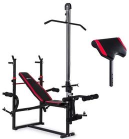 Скамья для жима Hop-Sport HS-1070 с партой и тягой + набор Premium, 91 кг