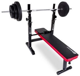 Скамья для жима Hop-Sport HS-1080 с партой и тягой + набор Premium, 128 кг