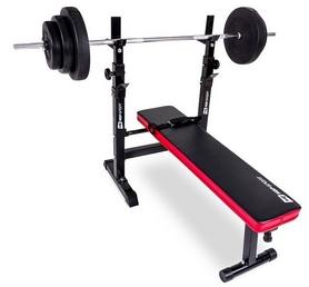 Скамья для жима Hop-Sport HS-1080 с партой и тягой + набор Premium, 40 кг