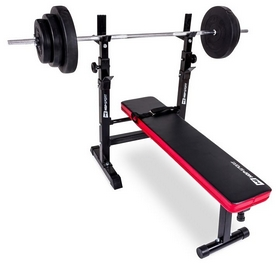 Скамья для жима Hop-Sport HS-1080 c тягой + набор Premium, 74 кг