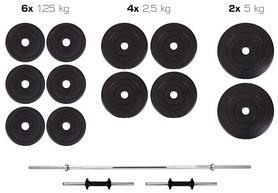 Набор Hop-Sport Premium (штанга и гантели), 36 кг