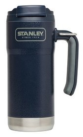 Термокружка стальная Stanley Adventure Travel - темно-синяя, 0,47 л (6939236331067)